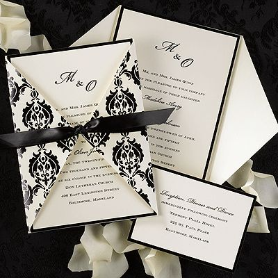 "crafty wedding invitations | Wrapped with Elegance"" by Carlson Craft wedding invitations"