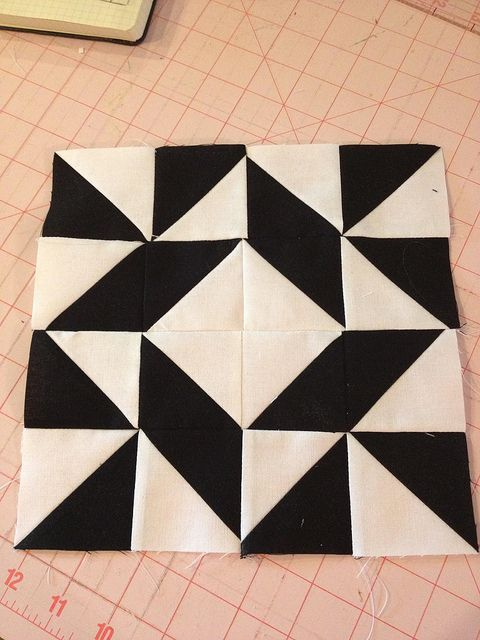 Modern Half-Square Triangle Quilt-a-Long Block 6