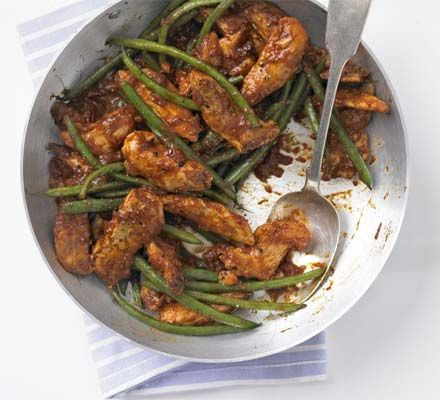 Fragrant, tender chicken with zesty lemon couscous makes a healthy Moroccan meal in minutes