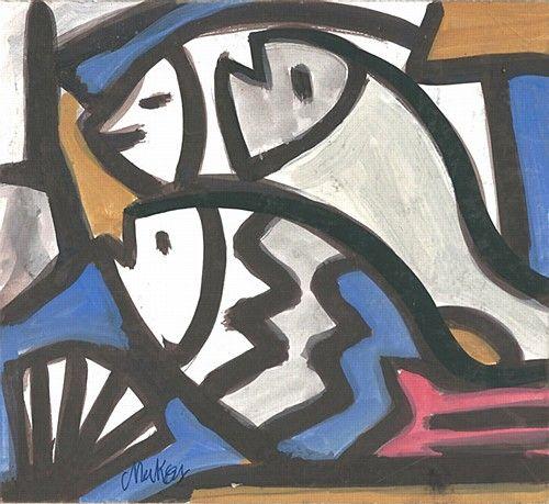 Markey Robinson 'Still Life with Fish' #art #MarkeyRobinson #StillLife #art #painting #fish #DukeStreetGallery