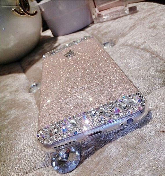 iPhone 6 & 6 Plus Glitter Rhinestone Diamond Bling Case Clear Crystal Back Cover