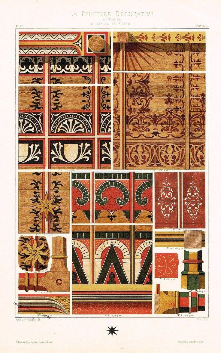 Didot Decorative BAILLOU-SUR-LOUIRE Antique Chromolithograph 1875