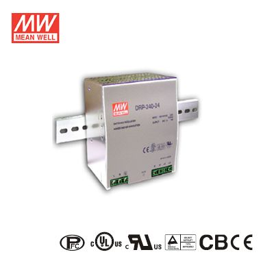 240Watt 24Volt 10Amp Single Output Industrial DIN Rail Power Supply Mean Well DRP-240-24