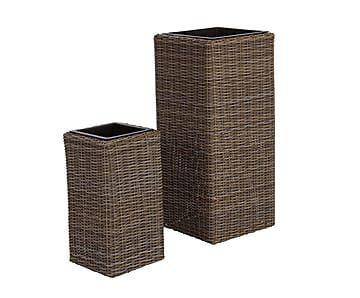 Набор из 2 вазонов Lars - сталь - коричневый