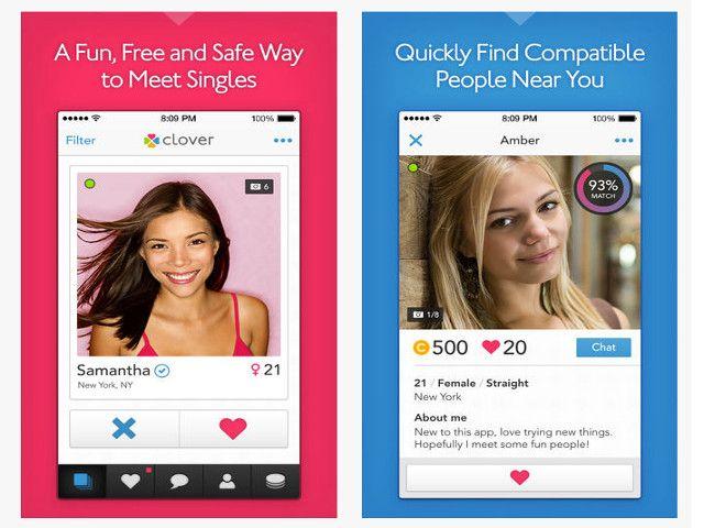 Clover:Une application rencontre comme tinder et badoo