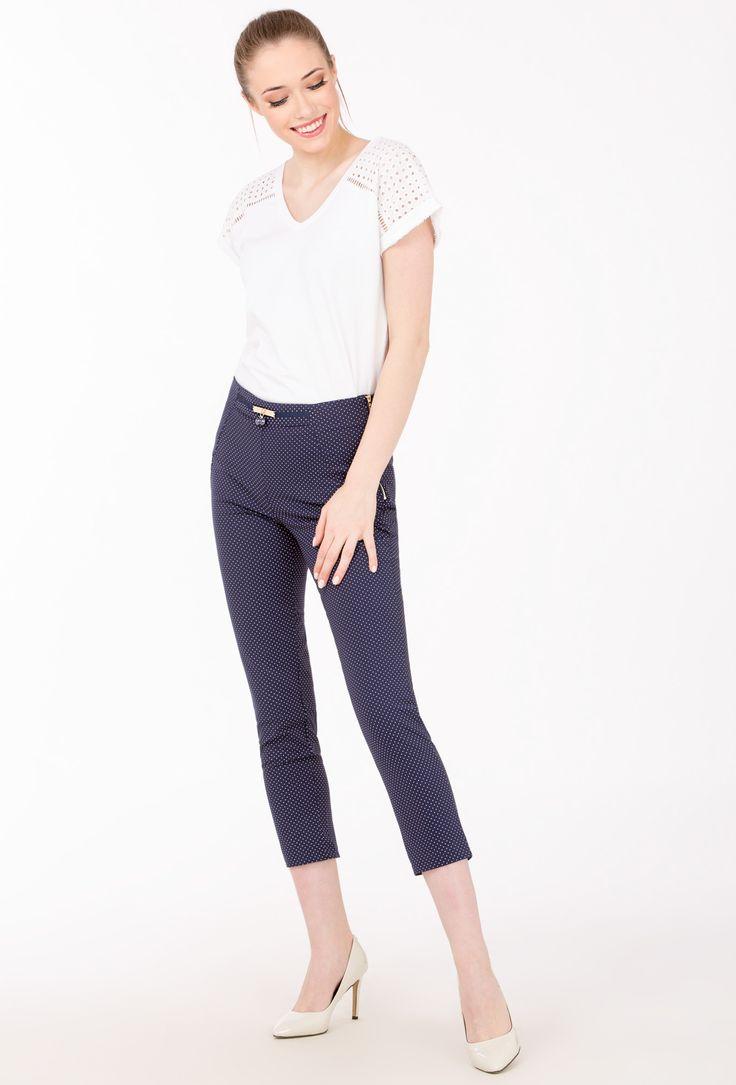 L2017 Spodnie 7/8 w kropeczki