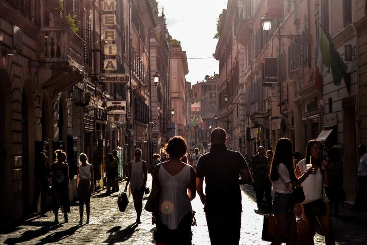 man, woman, people, tourists, walking, walk, alley, naples, italy, road, path, travel, city, urban, crowd