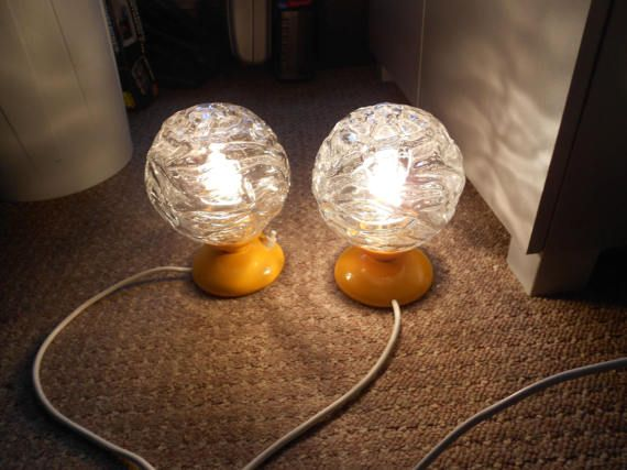 2 night table lamp 70s Graewe.