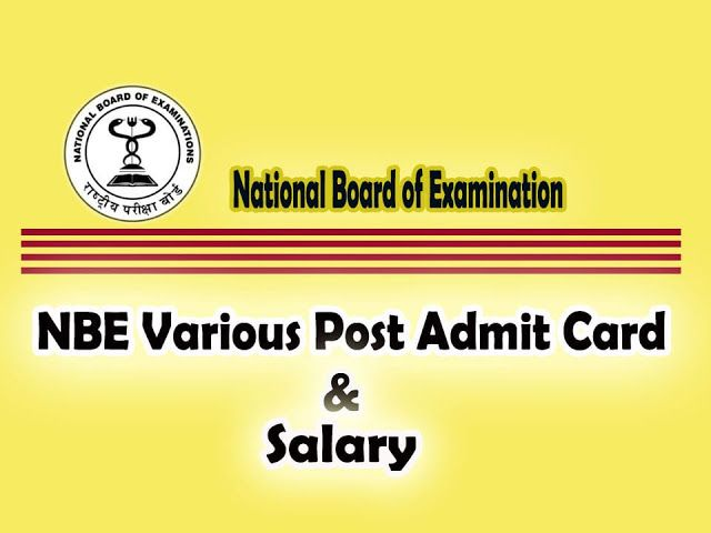 Nbe Admit Card 2020 National Board Cards Important Dates