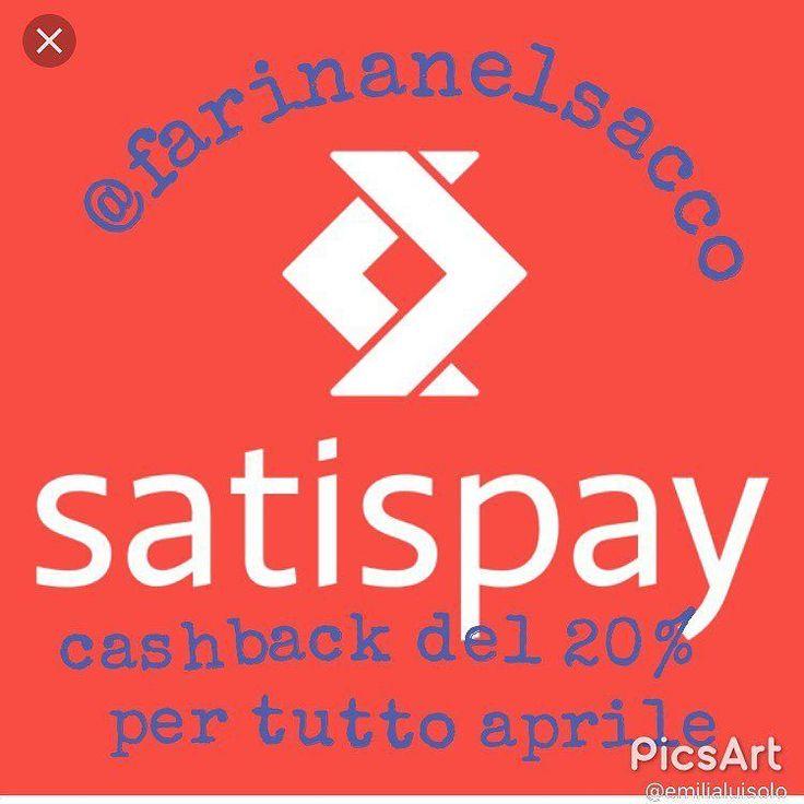lo sapevate verooo? #satispay @farinanelsaccotorino #cashback #20%