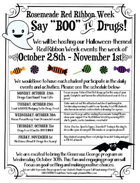 Rosemeade Elementary - Red Ribbon Week Activities
