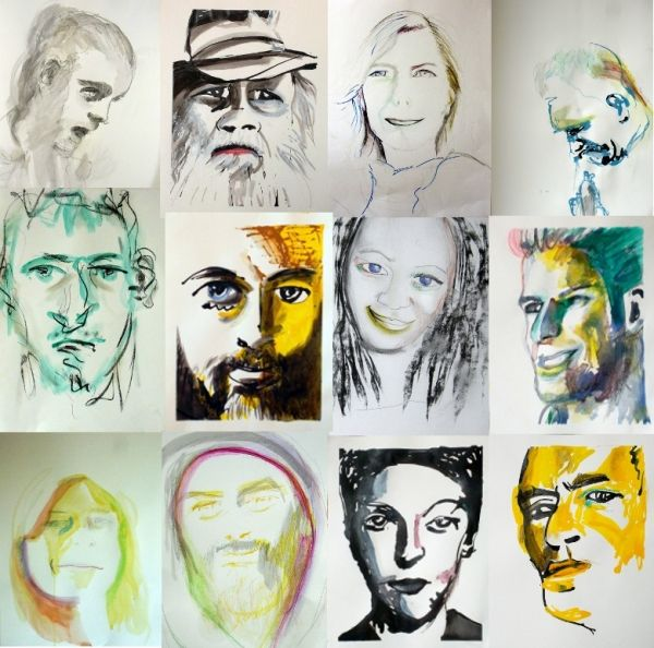 Un corso disegno e pittura dando particolare attenzione al volto,  di un incontro alla settimana presso l'associazione Art&Sol in via S.Paolino 18 nel quartiere S.Ambrogio a Milano (Famagosta).