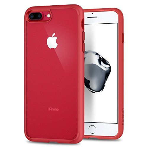 Coque iPhone 8 Plus, Spigen® Coque iPhone 7 Plus / 8 Plus [Ultra Hybrid 2nd Generation] AIR CUSHION [Red] Clear back panel + TPU bumper with Reinforced Camera Protection Pour iPhone 7 Plus / 8 Plus - (043CS21729) #Coque #iPhone #Plus, #Spigen® #Plus #[Ultra #Hybrid #Generation] #CUSHION #[Red] #Clear #back #panel #bumper #with #Reinforced #Camera #Protection #Pour #(CS)