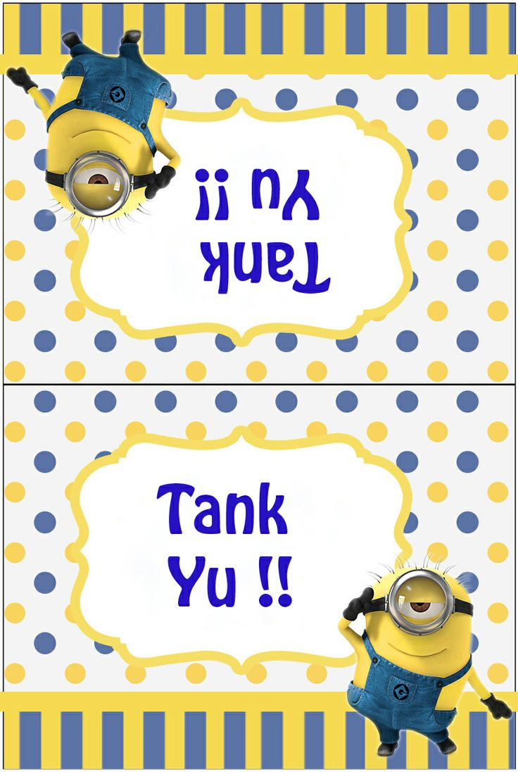 pie face minions. minion thank you card pie face minions