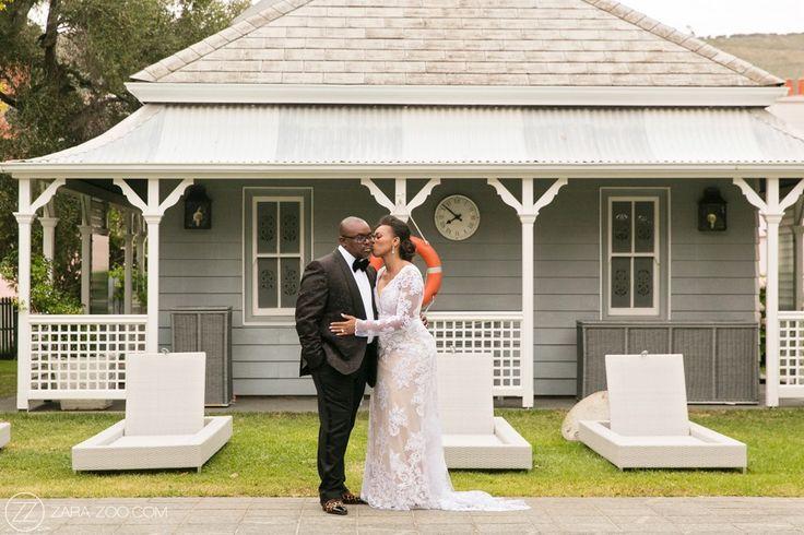 Bride wearing her reception wedding dress - African wedding at the Belmont Mount Nelson Hotel
