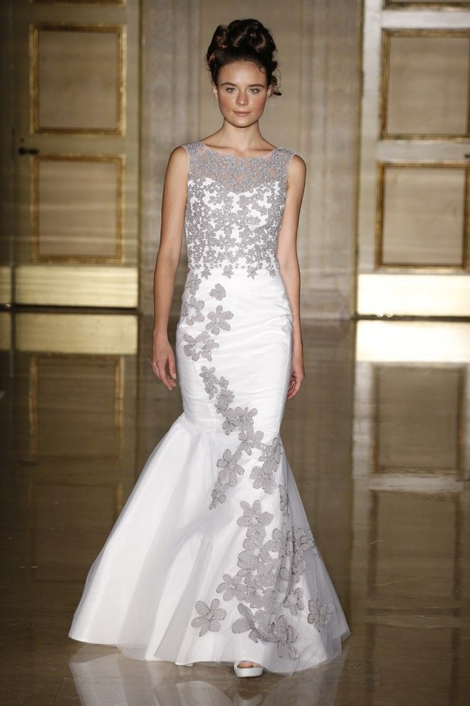 couture silver dresses t were t a wedding | Fall 2013 wedding dress Douglas Hannant bridal gowns 8