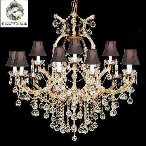 Maria Theresa Chandelier With Shades - A83-B6/Sc/21510/15+1