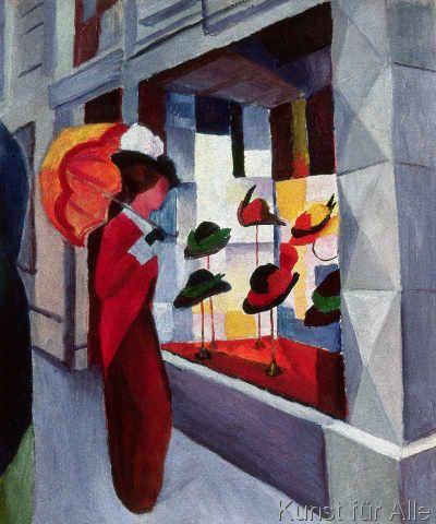 August Macke - Der Hutladen