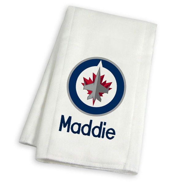 Winnipeg Jets Infant Personalized Burp Cloth - White - $19.99