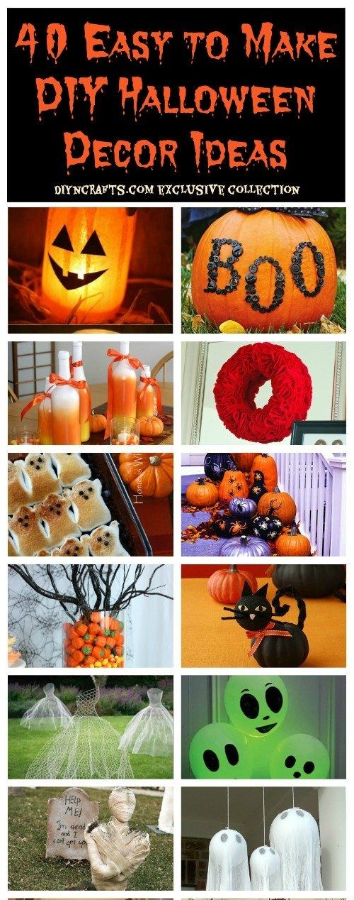 40 Easy to Make DIY Halloween Decor Ideas Just for funnies - halloween decorations and crafts