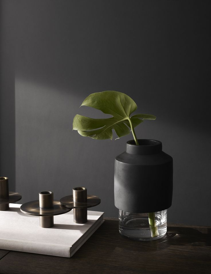 "Menu -  Willmann Vase in black Concrete by Hanne Willmann Image: Yellowsstudio  ""Modernism Reimagnied"""