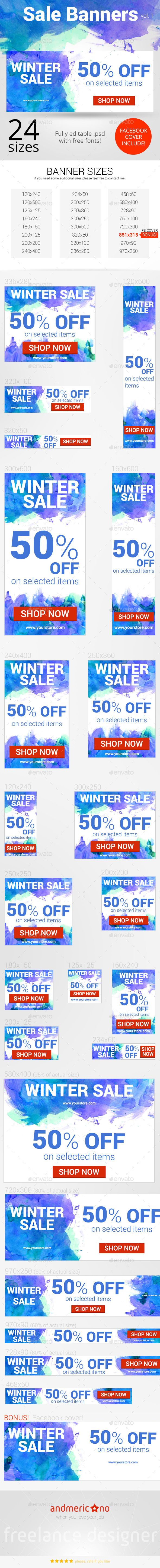 Big Sale Banners Set Template PSD | Download: graphicriver.net/…