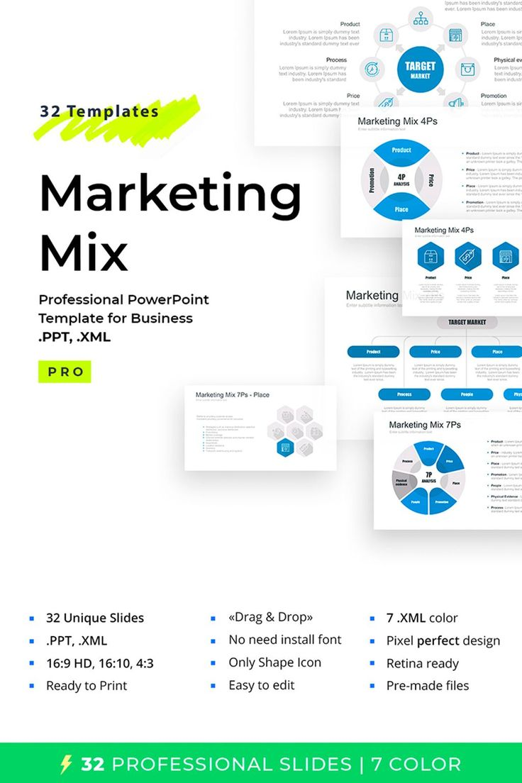 Marketing Mix Tool PowerPoint Template