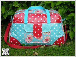 Little-holiday-bag aus Wachstuch