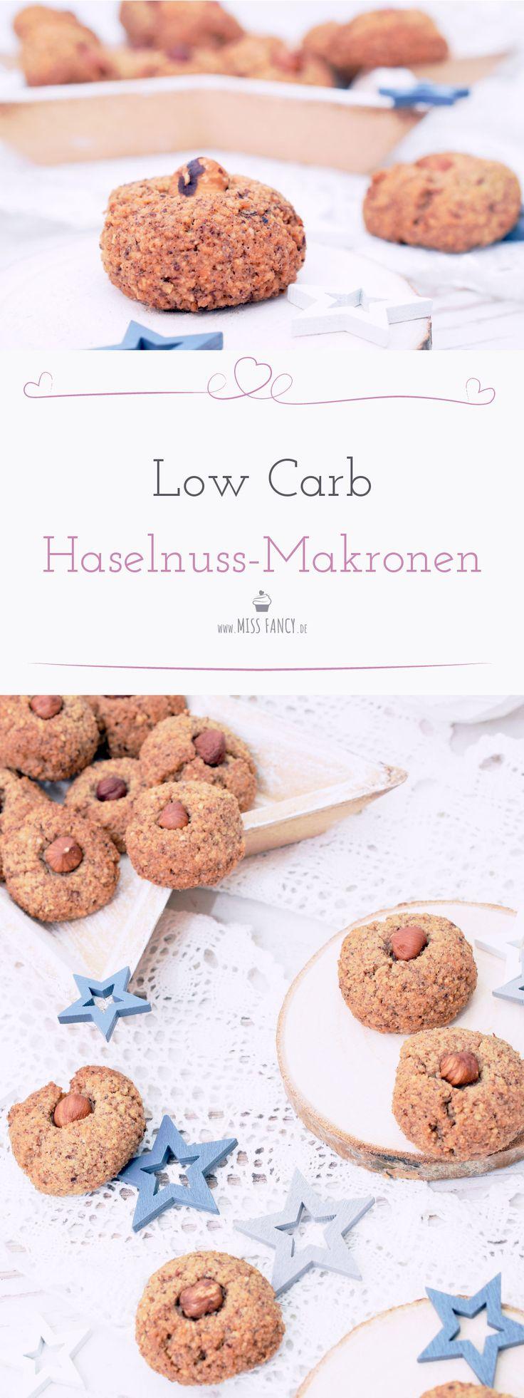 Das Low Carb Haselnussmakronen so lecker sein können, hätte ich nie gedacht. Hier ist das Rezept für dich! #lowcarb #lowcarbgebäck #Makronen