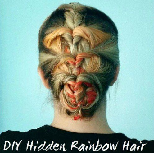 55 best hair color ideabook images on pinterest hair color hair diy how to do hidden rainbow hair solutioingenieria Image collections