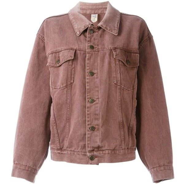 Moschino Vintage Oversized Denim Jacket (1046960 PYG) ❤ liked on Polyvore featuring outerwear, jackets, tops, coats & jackets, vintage jackets, oversized jean jacket, moschino jacket, brown denim jacket and cotton jean jacket