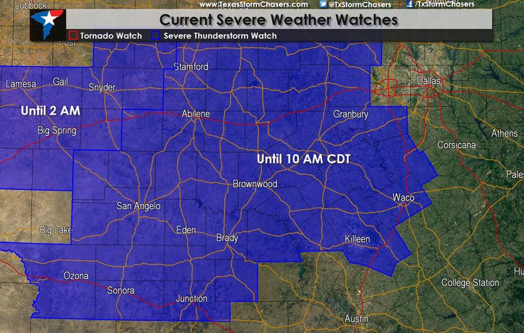 140AM: Severe Thunderstorm Watch for portions of North Texas, Central Texas, the Concho Valley, Big Country, nd Hill Country until 10 AM CDT. This watch includes Abilene, Graham, Mineral Wells, Comanche, Gatesville, Waco, Temple, San Saba, San Angelo, Junction, and Ozona. It does not include the D/FW Metroplex, Austin, or San Antonio. A line of severe thunderstorms located from near Abilene to Robert Lee and Sterling City will continue to move southeast/east this morning. Dam