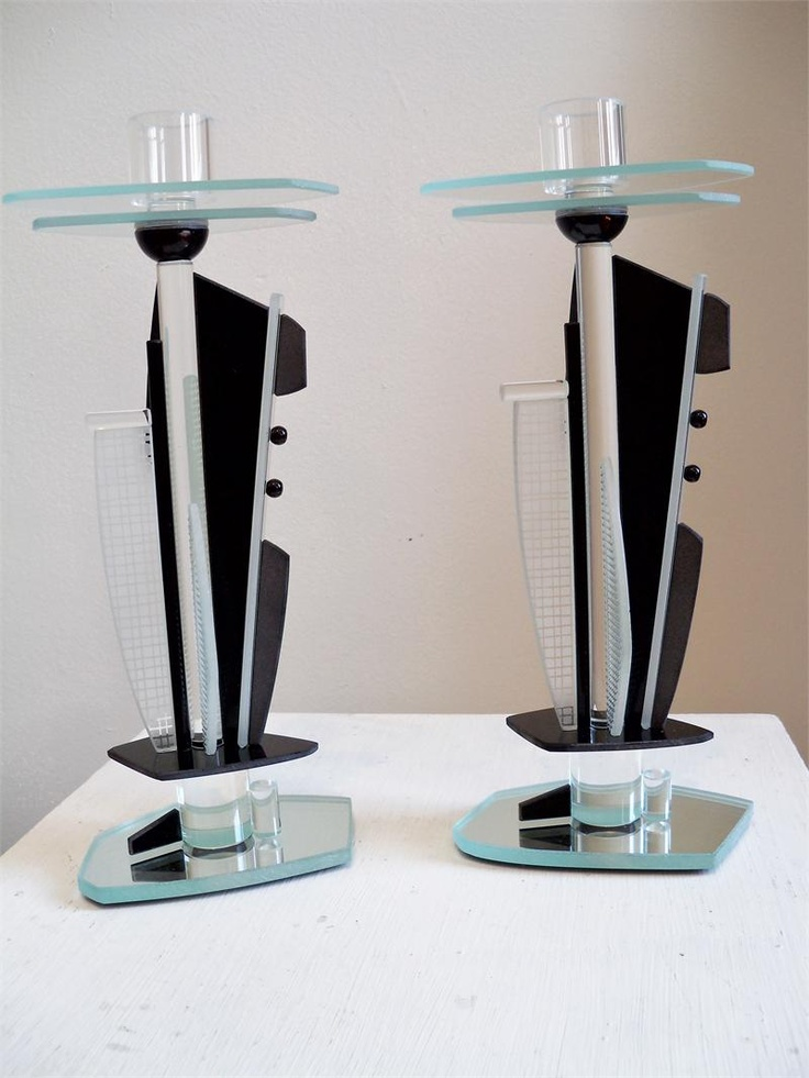 Art Deco Candlesticks. Anything can be sculptural!