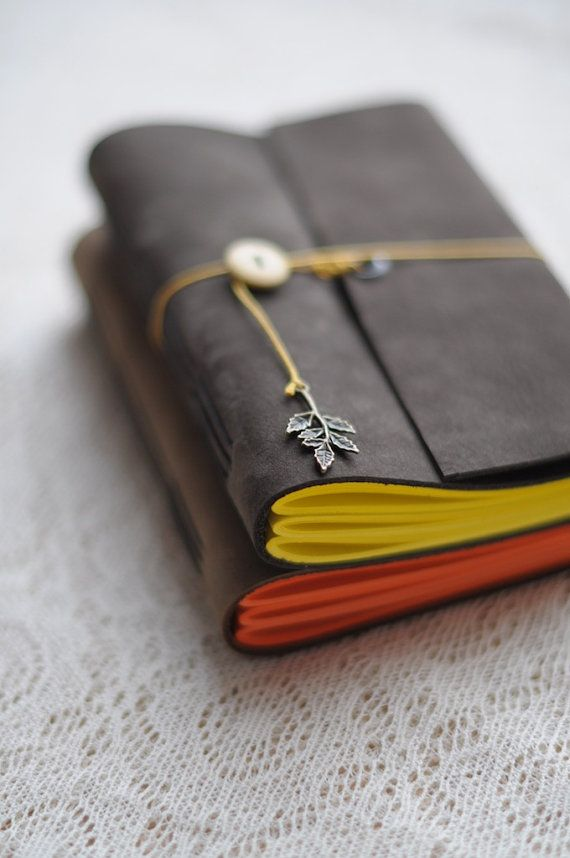 leather notebook   pleguzova http://www.etsy.com/transaction/128900449