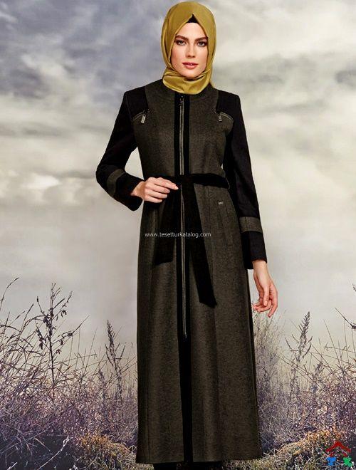 Siyah Kuşaklı Uzun Kaban