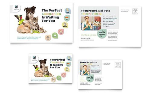 Pet Store - Postcard Template