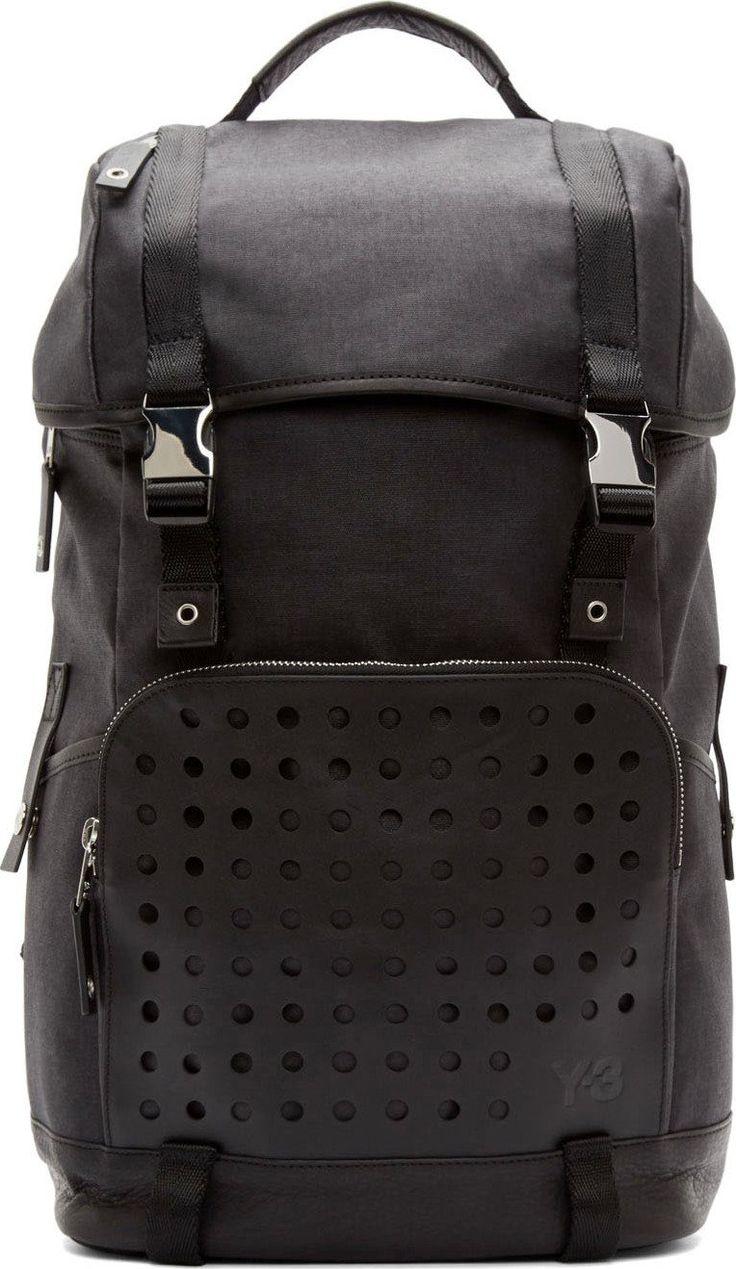 Y-3 Black Toile Hiker Backpack