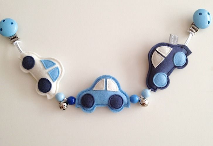 "Kinderwagenkette aus Filz ""Autos"" // Stroller chain out of felt with cars by Johanna Diehl via DaWanda.com"