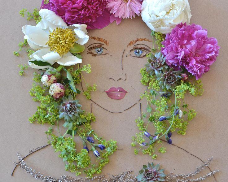 23 best silk flower crafts images on pinterest fabric flowers flora flower face print mightylinksfo