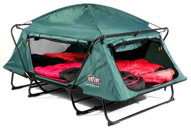 A little cot and tent combo that's just cozy enough for two.