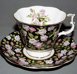 Royal Albert - Black Chintz - Special Collections www.royalalbertpatterns.com - Alton