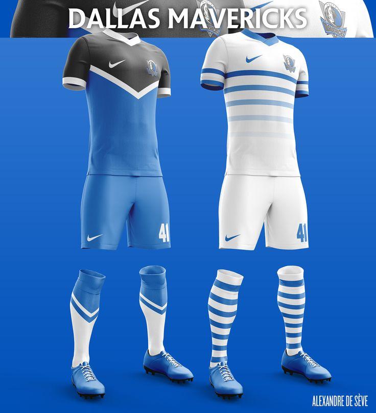 Un projet personnel durant lequel je vais repenser les uniformes de la NBA comme s'ils étaient des uniformes de soccer.