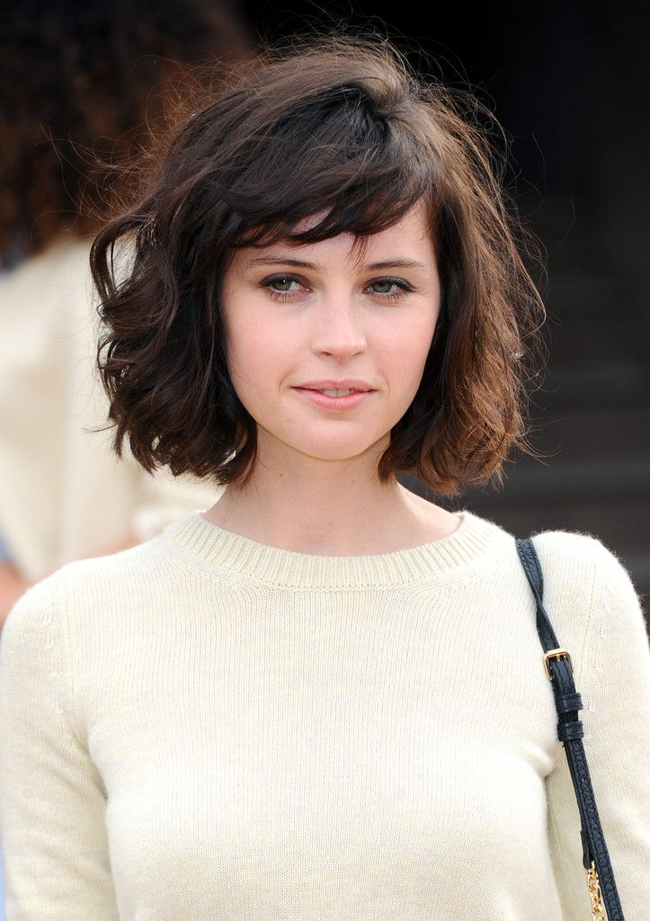 Felicity Jones Photos: Arrivals at the Burberry Prorsum Show