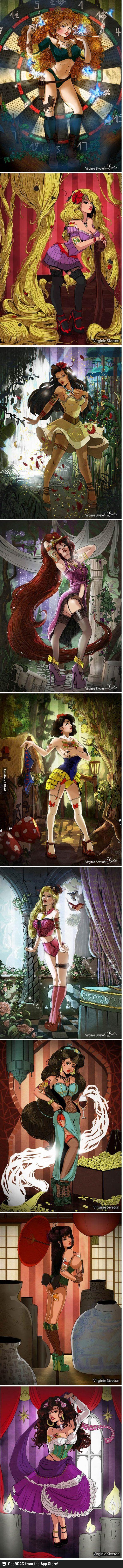 Disney pin-ups, Jasmine OMG YES