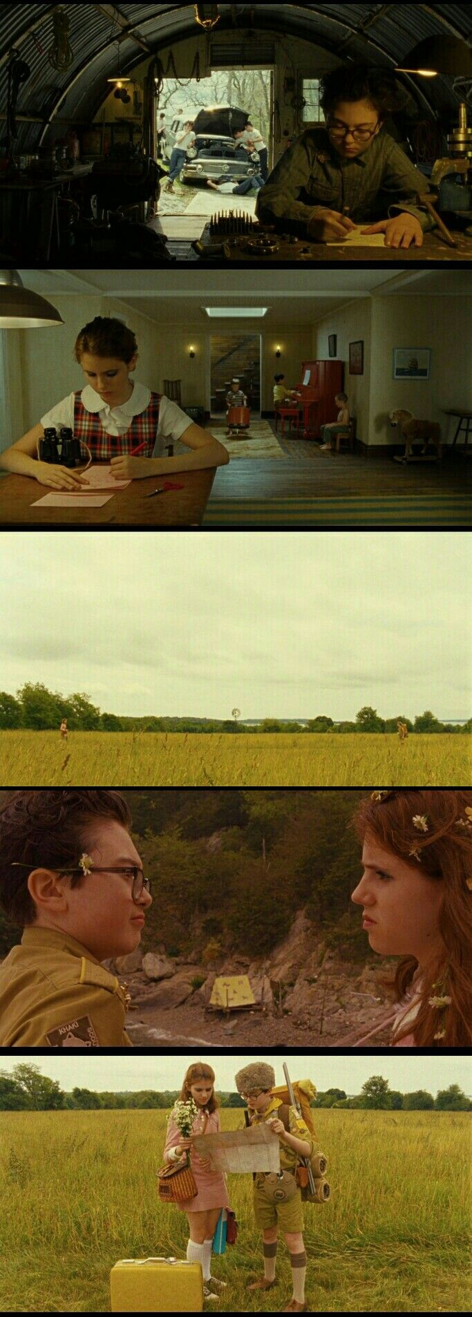 Sam and Suzy. Moonrise Kingdom(2012)