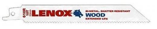 """Lenox Reciprocating Saw Blade 6 """"x3/4 """"x0.035 """" 10 Teeth Pro White 20562610r"""