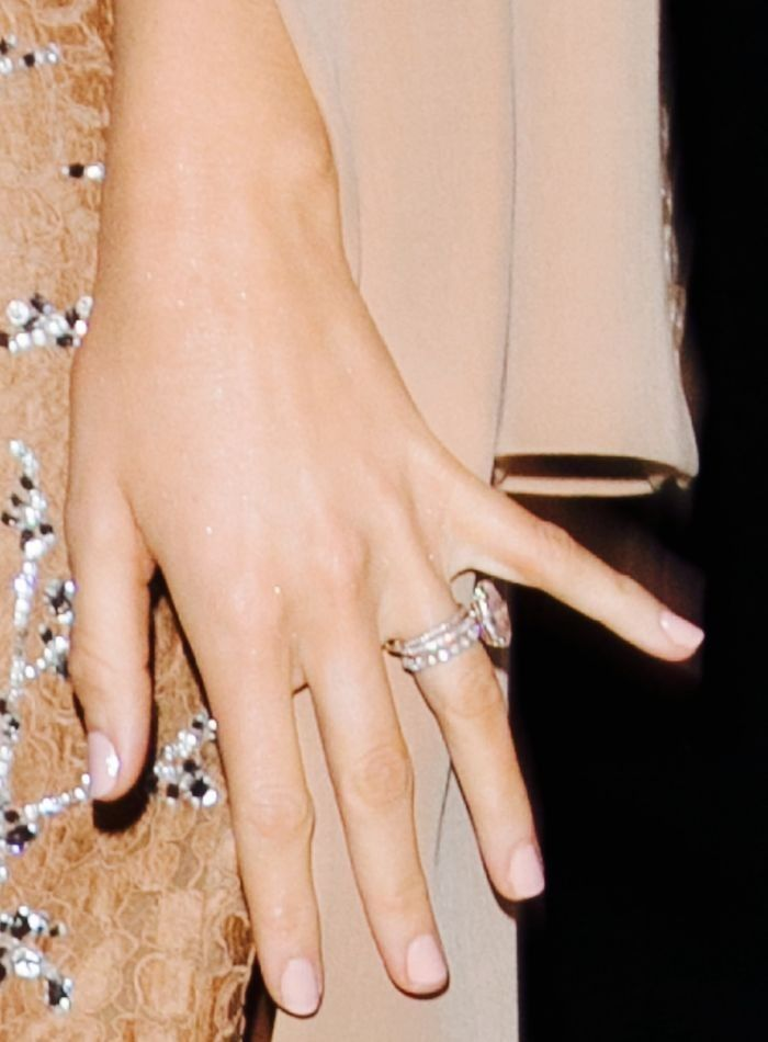 A Peek at How Big Blake Lively's Engagement Ring Really Is via @WhoWhatWear