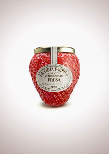 "package design ""Jam La Vieja Fabrica"" ​​to convey the taste of the jam."