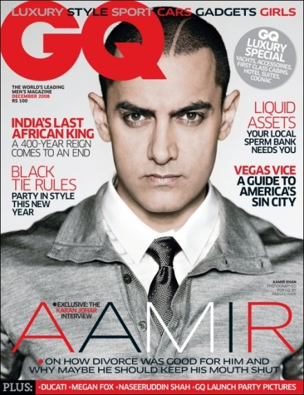 Aamir Khan Ghajini 4 GQ mag dec 2008