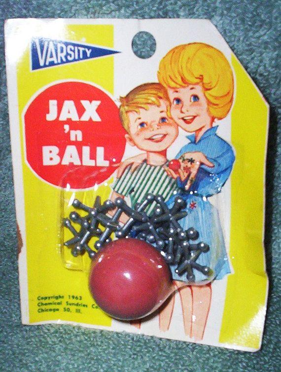 Vintage Game.  1963 Jax n Ball Game.  Vintage Jacks and Ball Sealed in Original Package. Made in USA